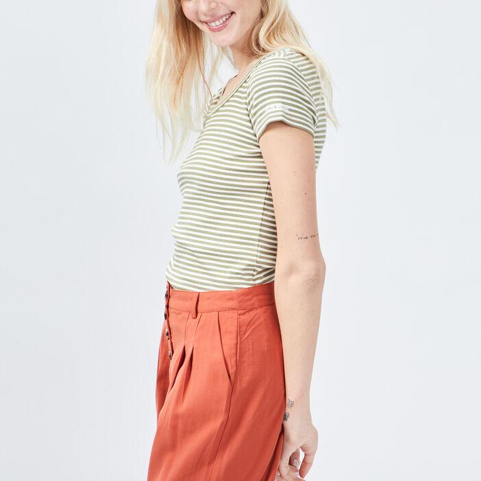 T-shirt Liberto femme vert kaki