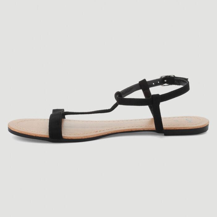 Sandales plates femme noir