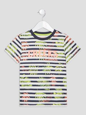 T shirt manches courtes Creeks bleu canard garcon