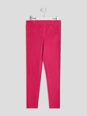 Pantalon tregging rose fushia fille