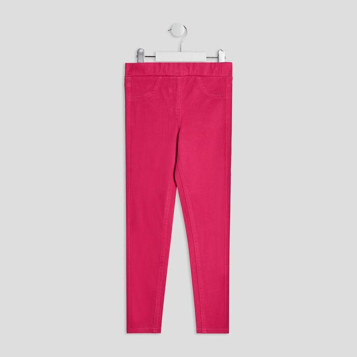 Pantalon tregging fille rose fushia