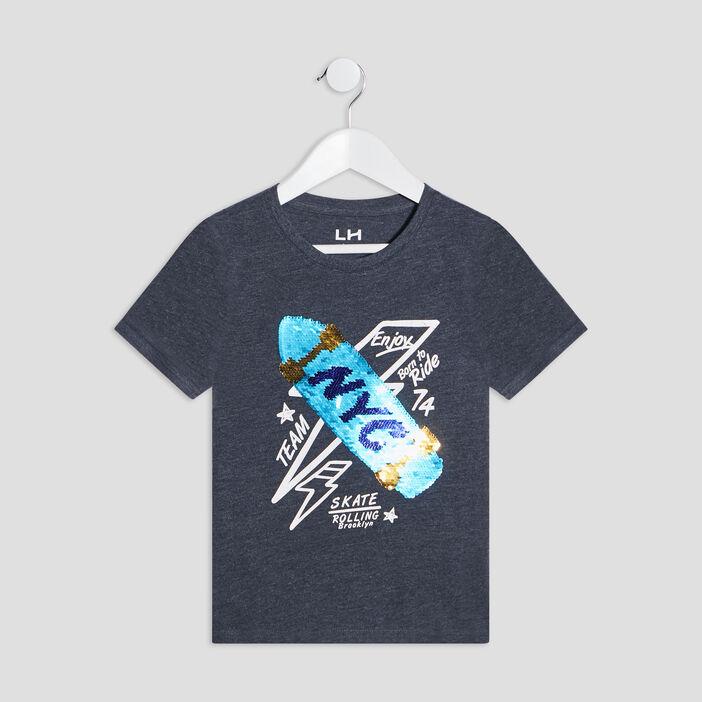 T-shirt manches courtes garçon bleu