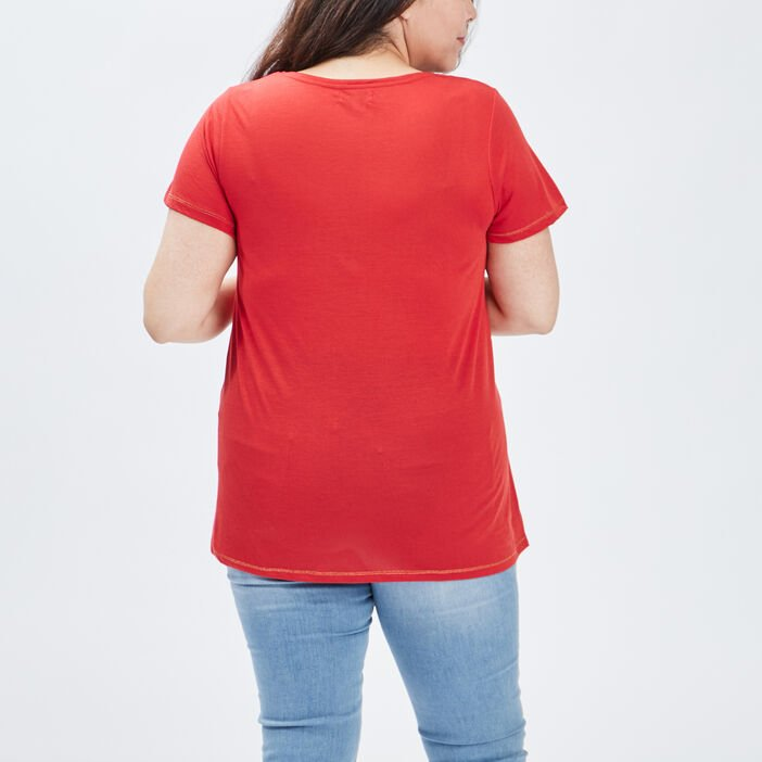 T-shirt grande taille femme grande taille rouge