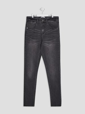 Jeans slim effet delave gris garcon