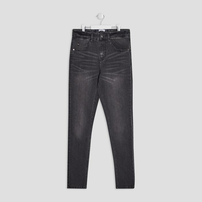 Jeans slim effet délavé garçon gris