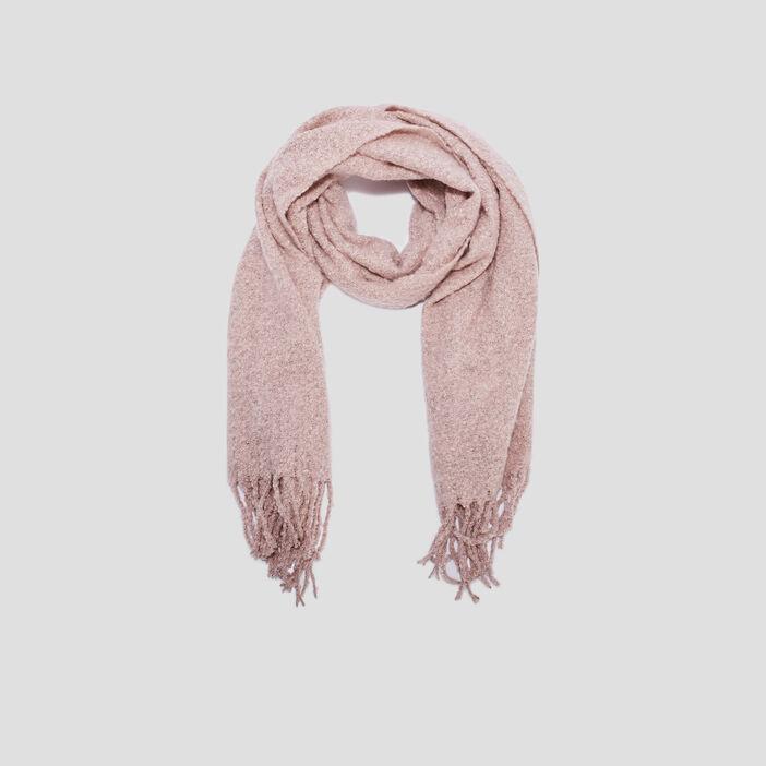 Écharpe avec franges mixte rose clair