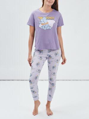 Ensemble pyjama Dumbo violet femme