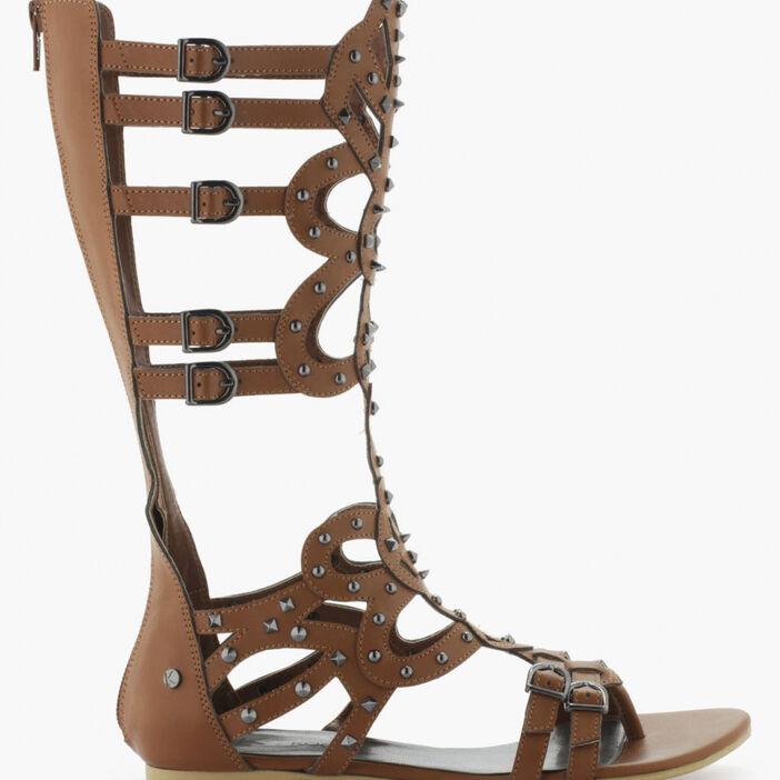 Sandales femme camel