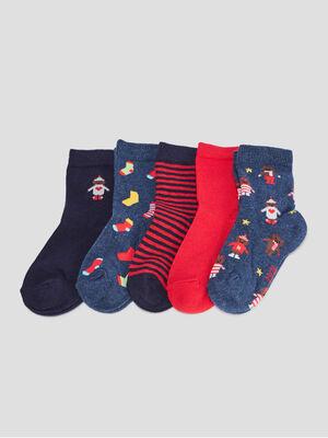 Lot 5 paires chaussettes bleu bebeg