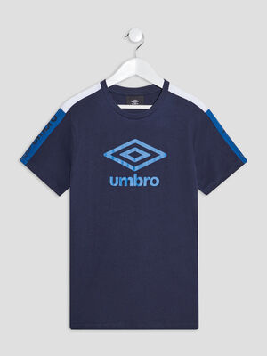 T shirt manches courtes Umbro bleu marine garcon