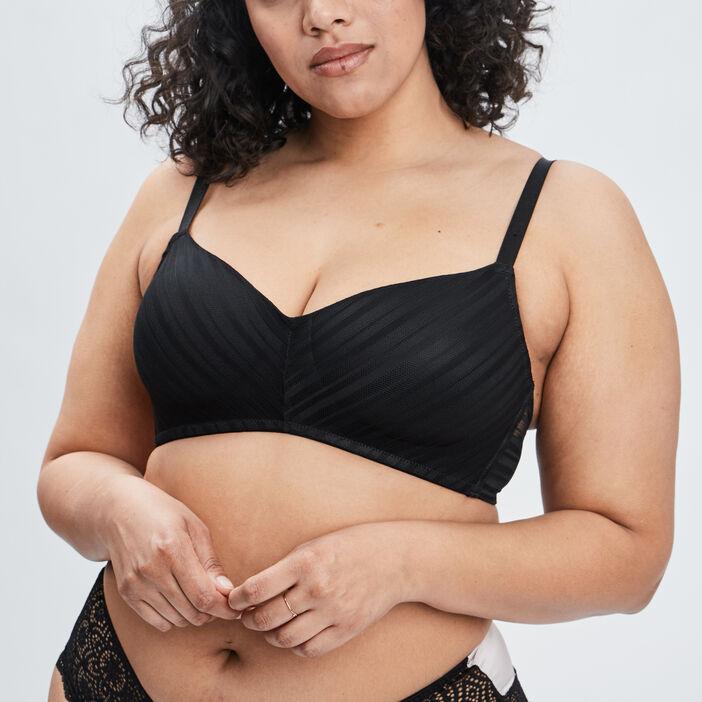 Soutien-gorge emboîtant femme grande taille noir