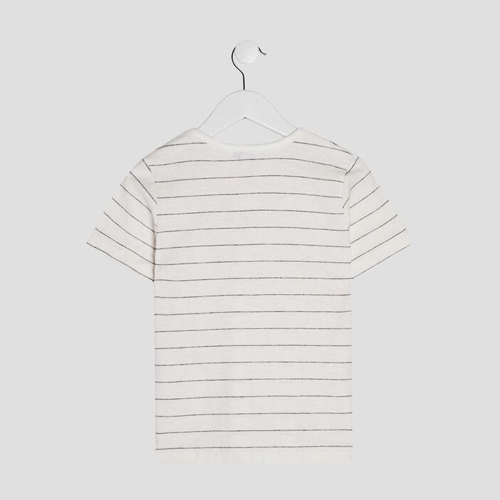 T-shirt manches courtes Creeks garçon ecru