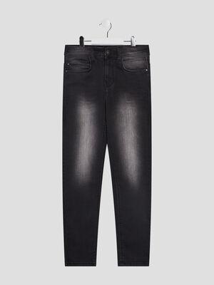 Jeans skinny effet delave noir garcon