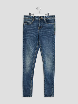 Jeans straight Creeks denim double stone garcon