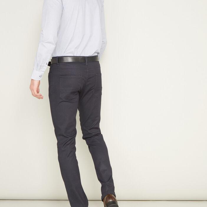 Pantalon droit uni homme bleu marine