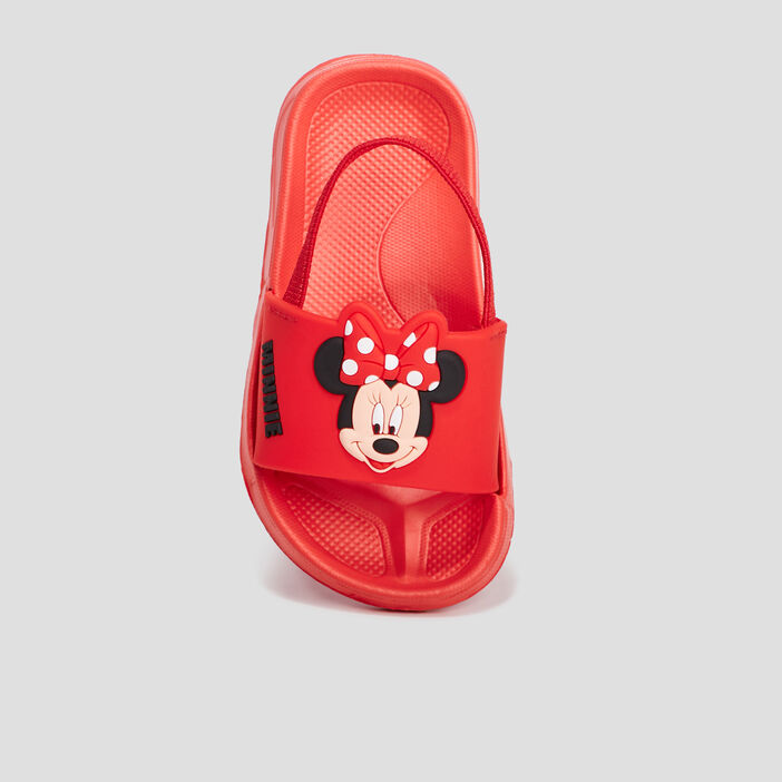 Claquettes Minnie fille rouge