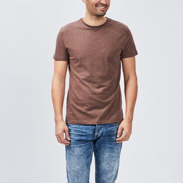 T-shirt manches courtes homme marron