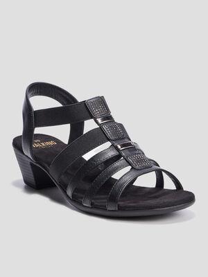 Sandales a talon Walking noir femme