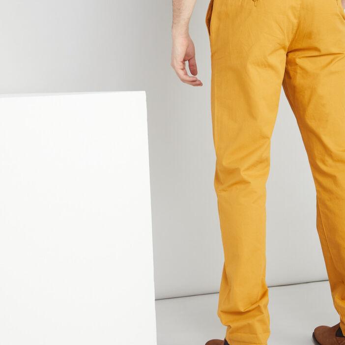 Pantalon droit homme jaune