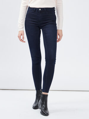 Jegging taille basse denim blue black femme