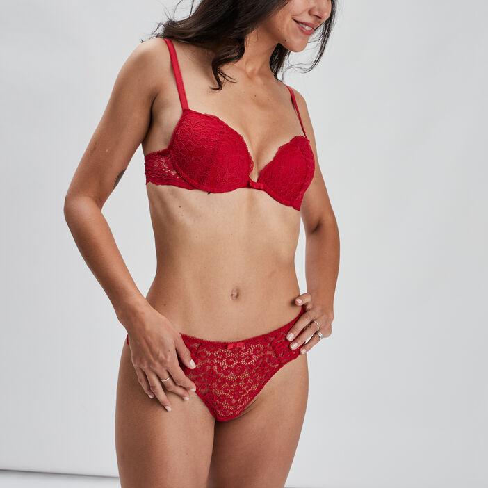 Soutien-gorge ampliforme femme rouge