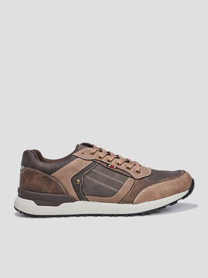 Baskets retrorunning marron homme