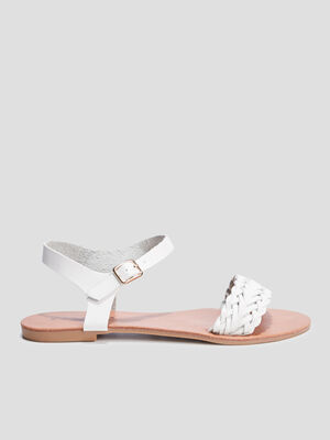 Sandale plates Creeks blanc femme