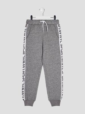 Pantalon jogging avec bandes gris garcon
