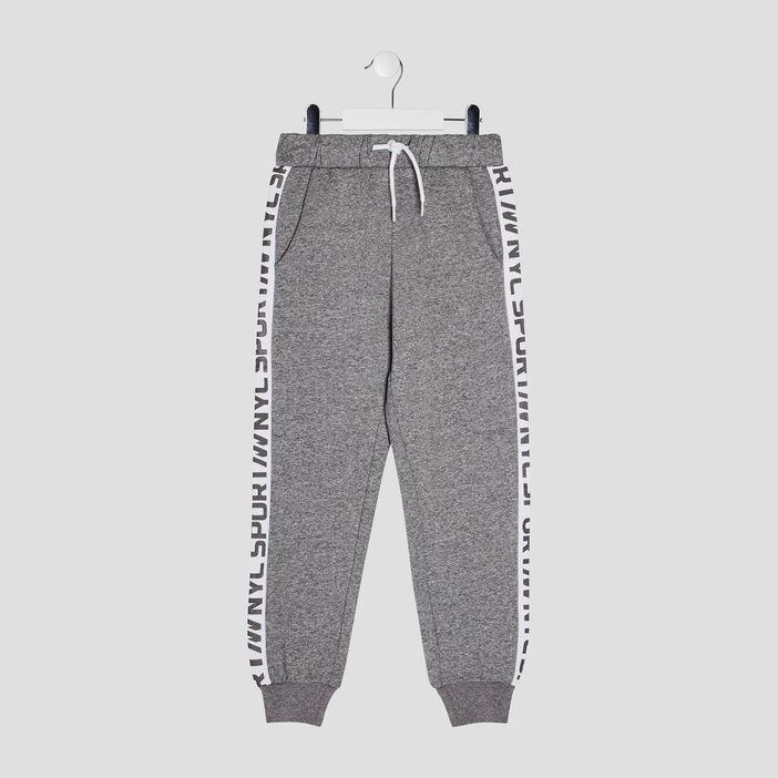 Pantalon jogging avec bandes garçon gris