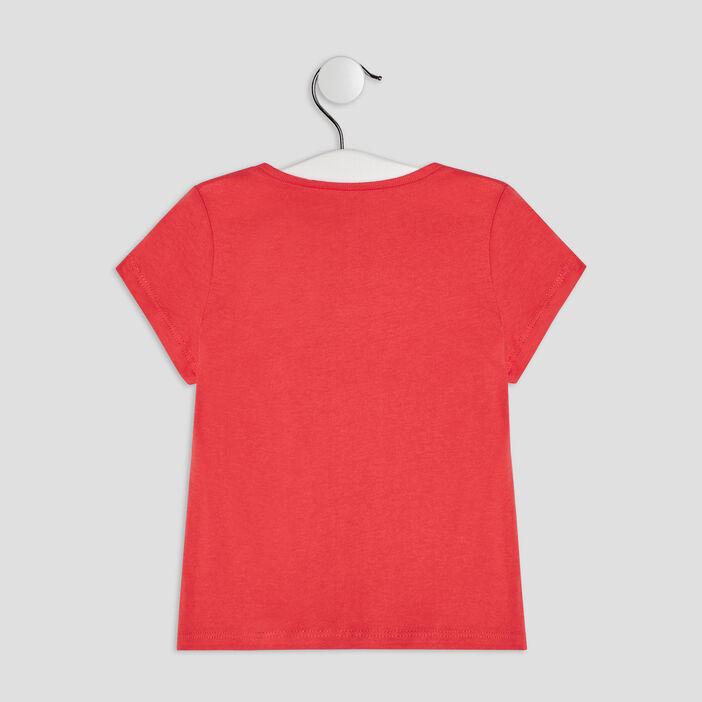 T-shirt manches courtes bébé fille rouge