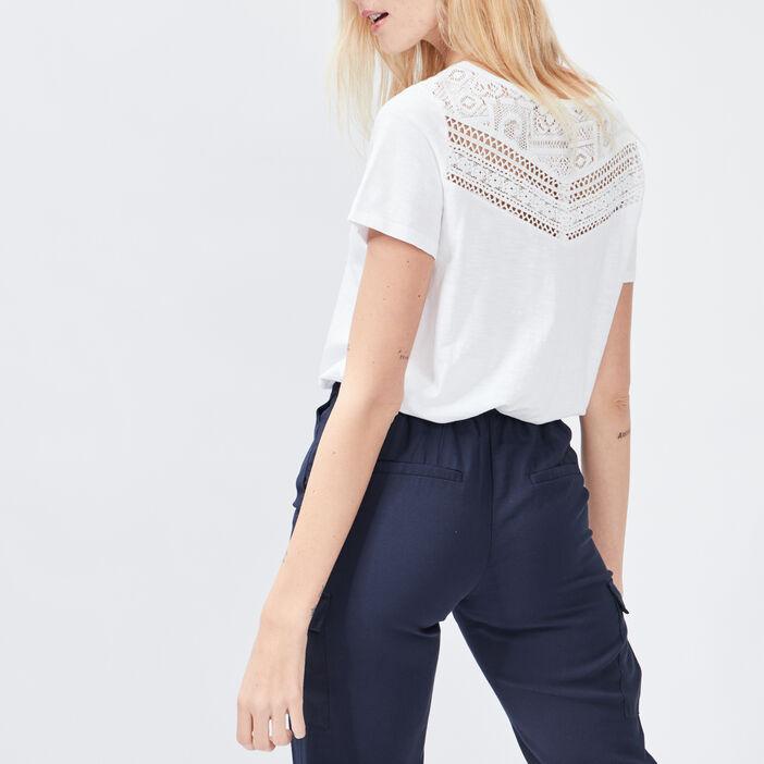 T-shirt manches courtes femme blanc