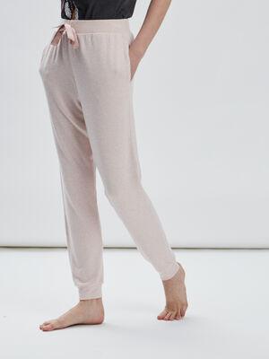 Bas de pyjama rose clair femme