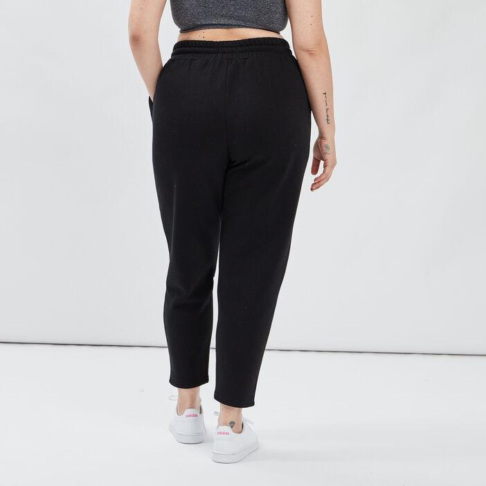 Pantalon jogging femme grande taille noir