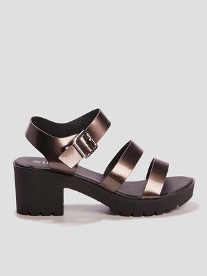 Sandales a talons Liberto couleur argent femme