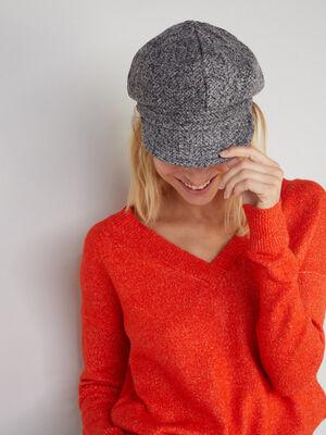 Gavroche souple en tweed gris femme