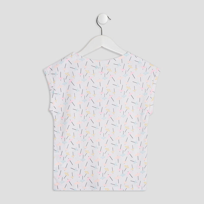 T-shirt manches courtes fille multicolore