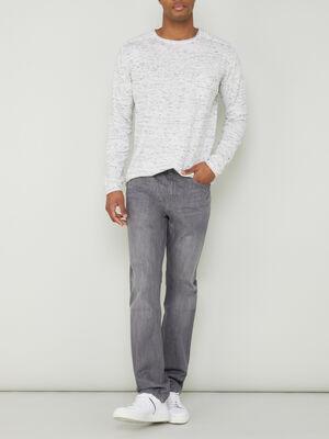 Jean regular coton gris homme