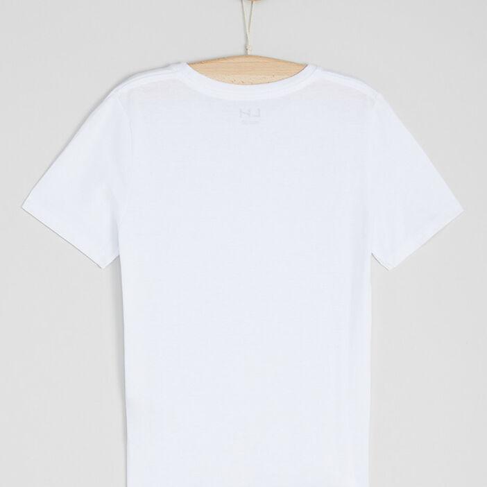 T-shirt basique en coton garçon blanc