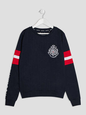 Sweat Harry Potter bleu marine fille