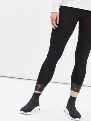 Legging 78eme avec dentelle noir femme
