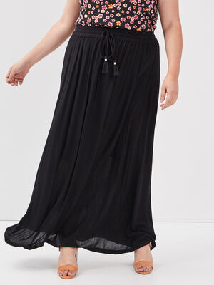 Jupe longue grande taille noir femmegt
