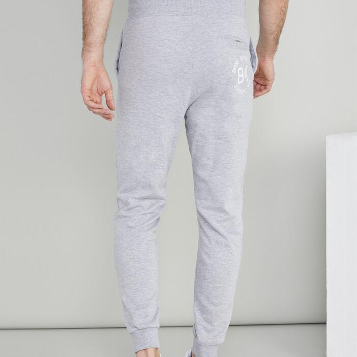 Jogging inscriptions latérales homme gris