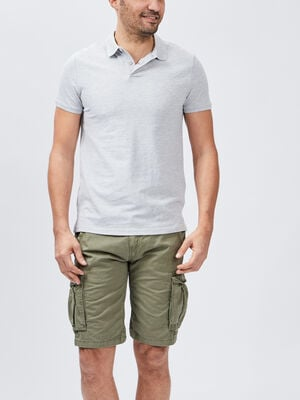 Polo manches courtes gris homme