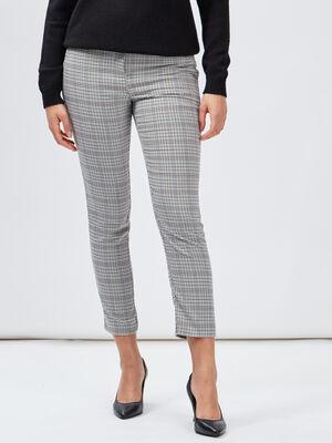 Pantalon cigarette multicolore femme