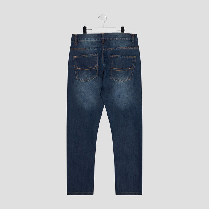 Jeans straight garçon denim stone