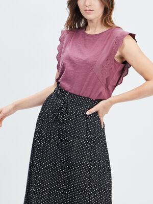 T shirt manches courtes Creeks prune femme