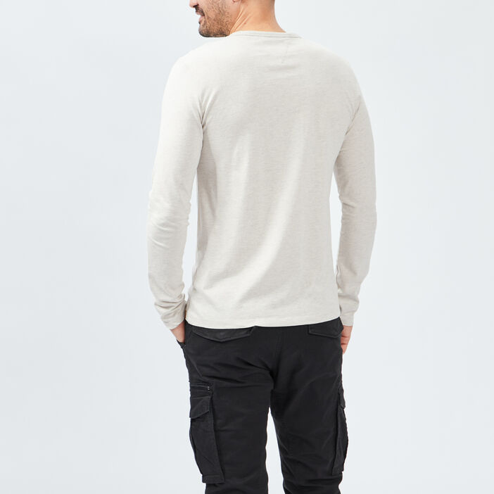 T-shirt Trappeur homme beige