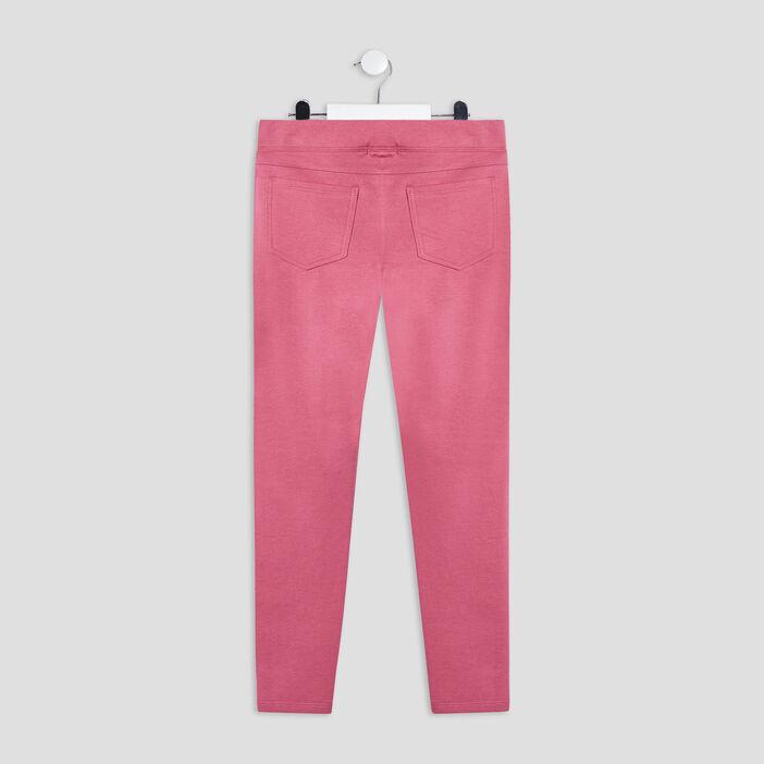 Pantalon jogging avec bandes fille rose framboise
