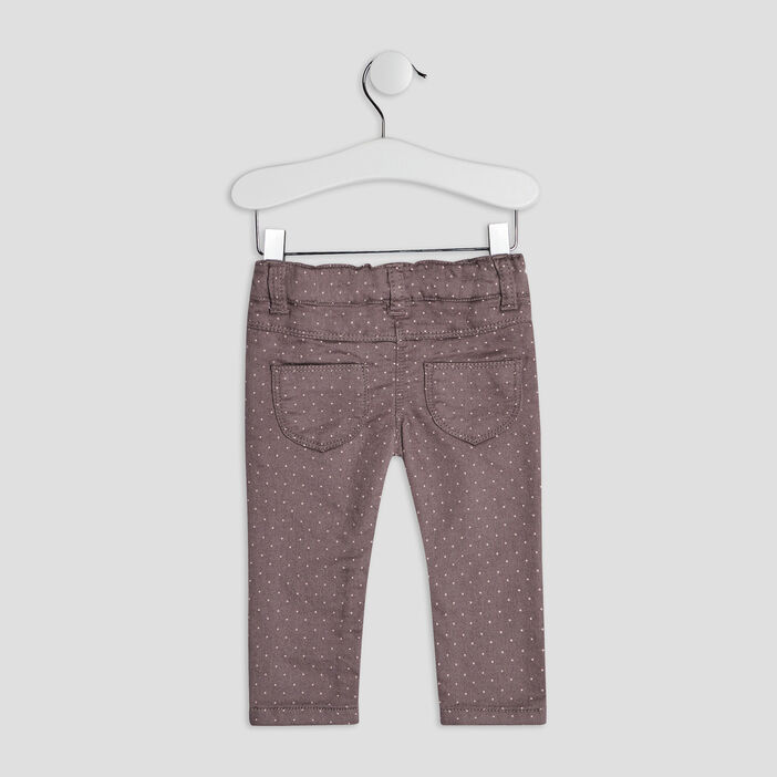 Pantalon jegging bébé fille taupe
