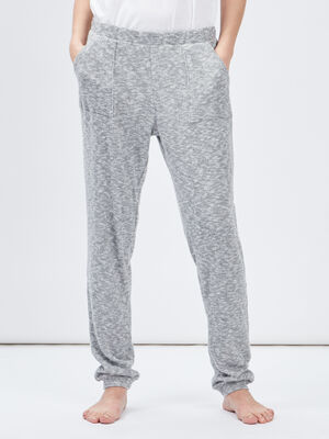 Pyjama coordonnable gris femme